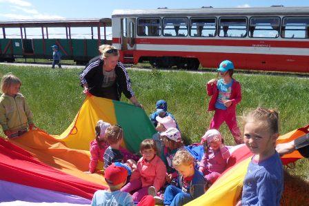 Wycieczka kolejką wąskotorową do Karczmisk